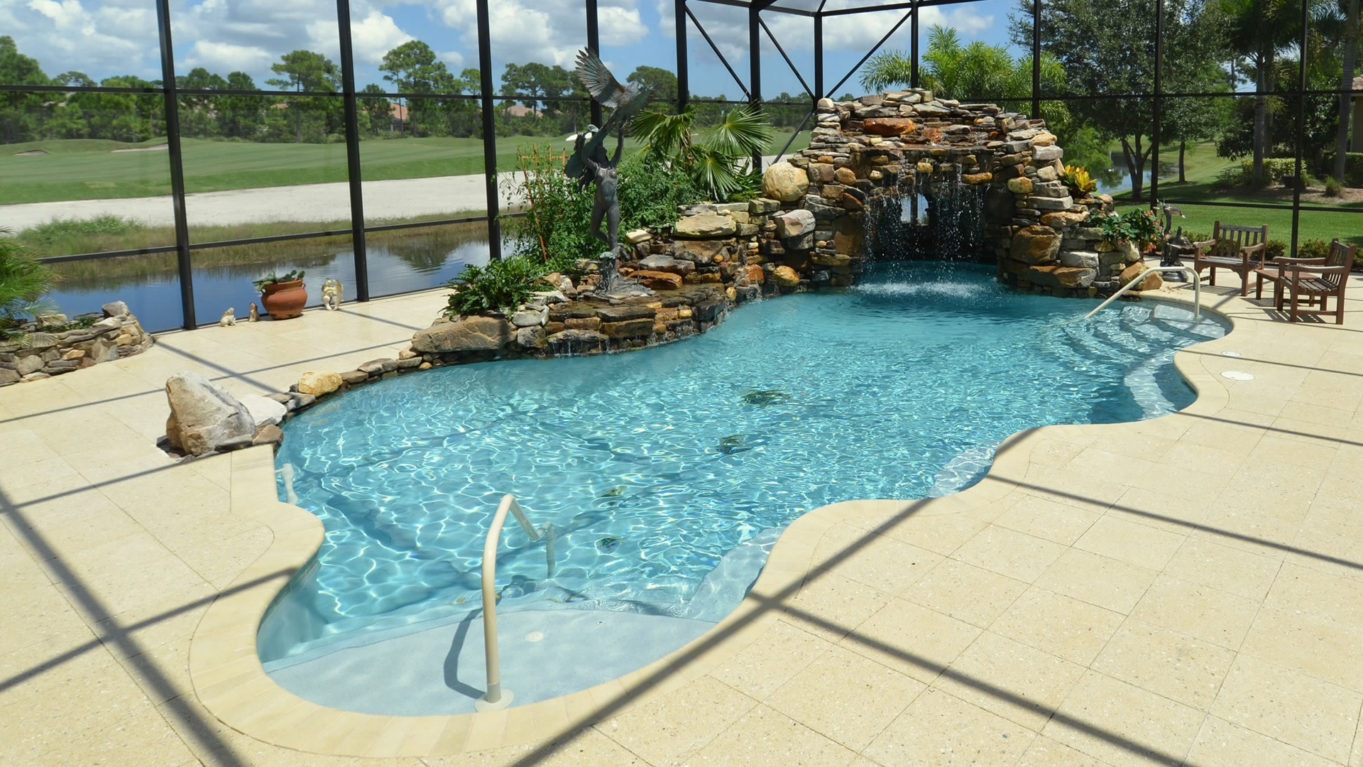 Entry Fountains & More - pool-builder-stuart