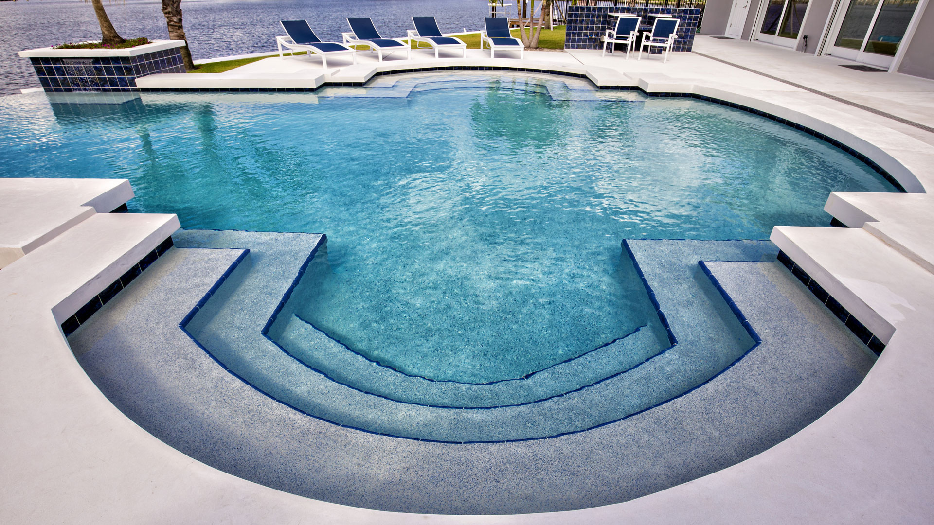Lap, Geometric, Beach Entry, and Tropical Pools - pool-builder-sebastian