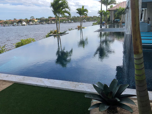 Infinity Edged Pool with Shallow Entry Areas