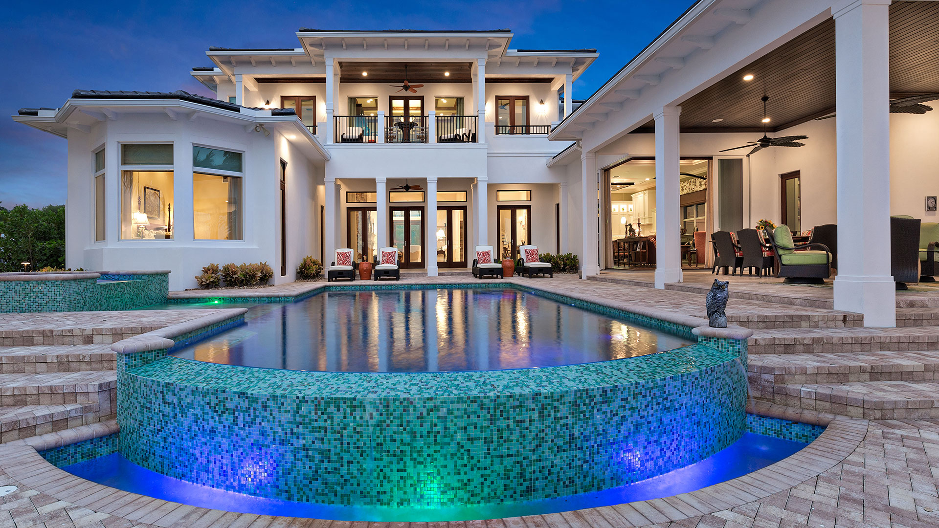 One of our luxury swimming pools in Jupiter, FL